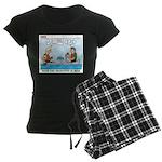 Canoeing Women's Dark Pajamas