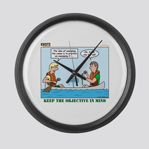 Canoeing Large Wall Clock