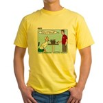 Basket Weaving Yellow T-Shirt