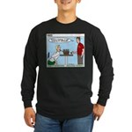 Basket Weaving Long Sleeve Dark T-Shirt
