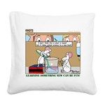 Animal Science Square Canvas Pillow