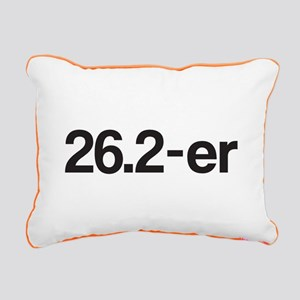 26.2-er or Marathoner Rectangular Canvas Pillow