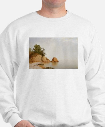 John Frederick Kensett Beach At Beverly Sweatshirt