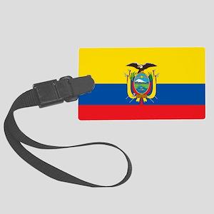 Flag Of Ecuador Large Luggage Tag