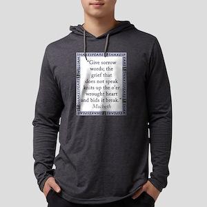 Give Sorrow Words Mens Hooded Shirt
