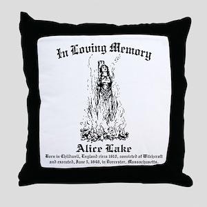 Alice Memorial 1 Throw Pillow