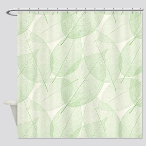 Green Leaves Shower Curtains