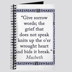 Give Sorrow Words Journal