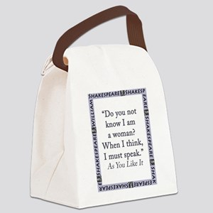 Do You Not Know I Am a Woman Canvas Lunch Bag