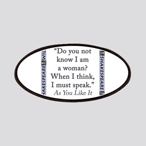 Do You Not Know I Am a Woman Patch