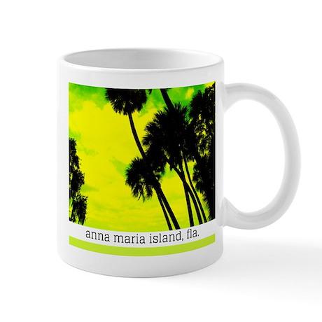 Palms against yellow sky Mug