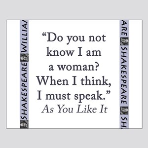 Do You Not Know I Am a Woman Small Poster