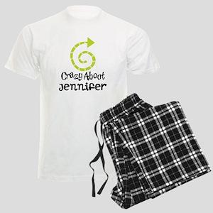 Personalized Couples Crazy Men's Light Pajamas