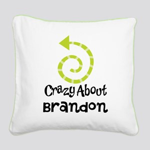 Personalized Couples Crazy Square Canvas Pillow