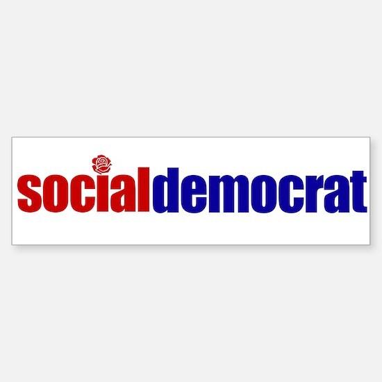 Social Democrat Bumper Bumper Bumper Sticker