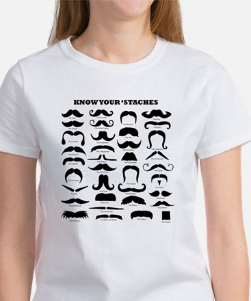 Know Your Staches Women's T-Shirt