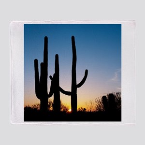 Arizona Cactus Throw Blanket
