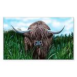 Scottish Highland Cow Pa Sticker (Rectangle 10 pk)
