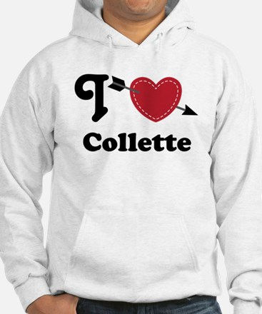 Personalized Couples Heart Hoodie