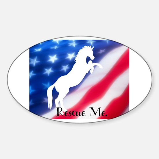 rescue me Oval Decal