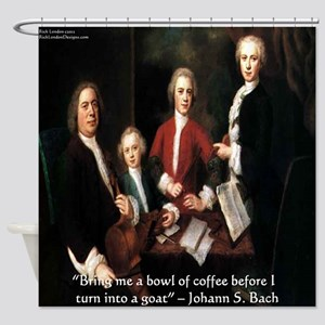 Johann S Bach Shower Curtain