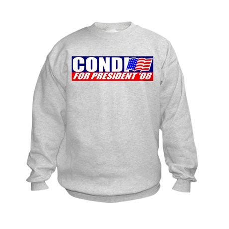 Condi Rice For President Kids Sweatshirt