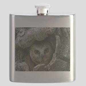 Saw-whet Owl 2 Flask