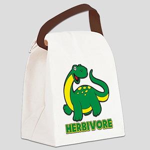 Herbivore Dinosaur Canvas Lunch Bag
