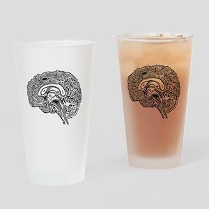 Science Geek Brain Drinking Glass
