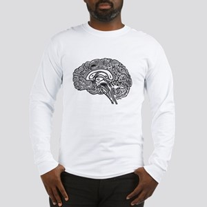 Science Geek Brain Long Sleeve T-Shirt