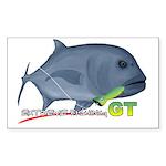 GT Extreme Fishing Sticker (Rectangle 10 pk)