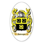 Ambrogio Sticker (Oval 50 pk)