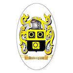 Ambrogioni Sticker (Oval 50 pk)