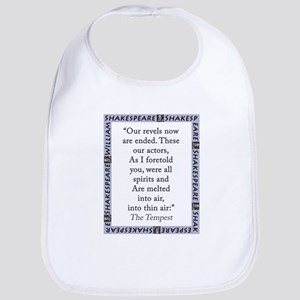 Our Revels Now Are Ended Cotton Baby Bib