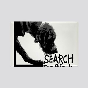 Search birch odor scent nose work Rectangle Magnet