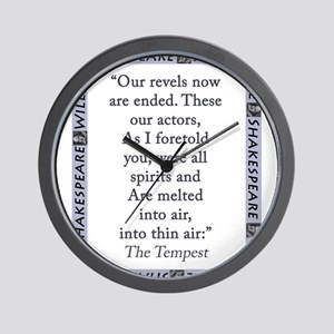 Our Revels Now Are Ended Wall Clock