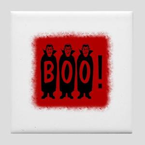 Boo! Dracula is here! Tile Coaster