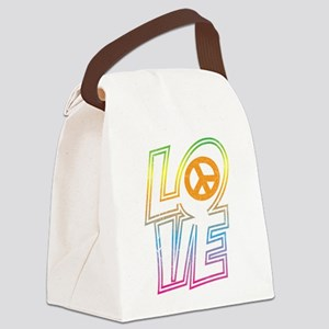 lovepeace Canvas Lunch Bag