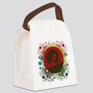 afrocircles Canvas Lunch Bag