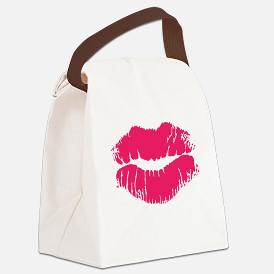lips.png Canvas Lunch Bag