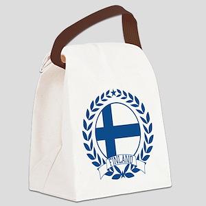 finlandwreath Canvas Lunch Bag