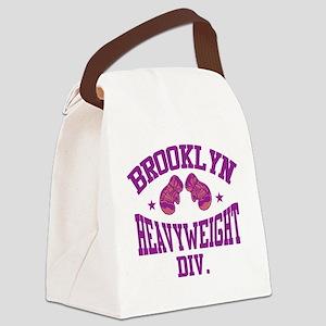 bkboxingPURPLE Canvas Lunch Bag