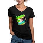 Sprechen Sie Douche? Women's V-Neck Dark T-Shirt