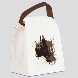 Boxer Pedigree Canvas Lunch Bag