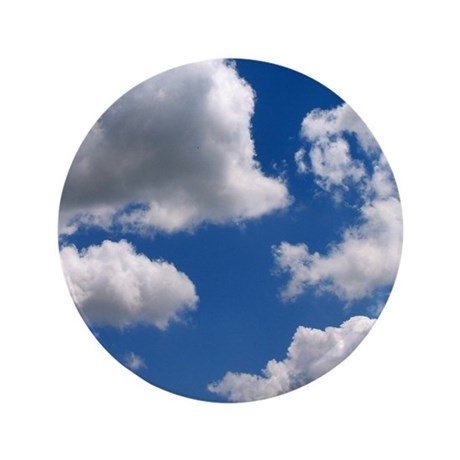 """Puffy Clouds 3.5"""" Button"""