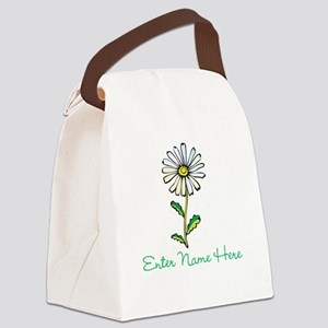 Personalized Daisy Canvas Lunch Bag