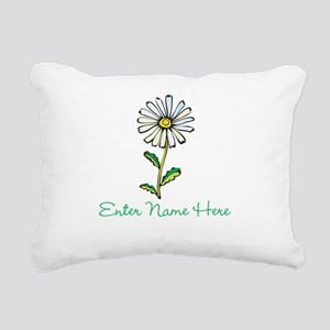 Personalized Daisy Rectangular Canvas Pillow