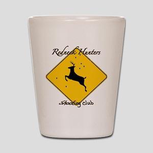 Red Neck hunting club Shot Glass