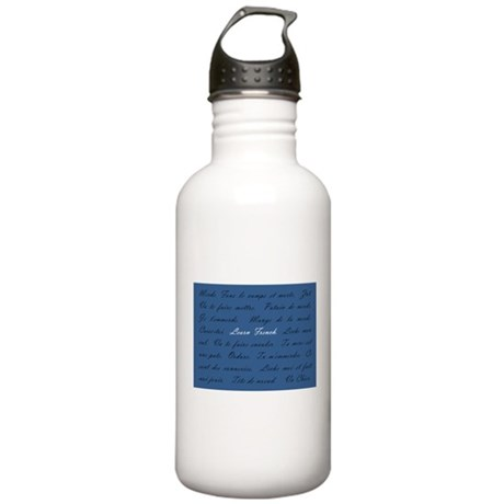 Learn French Stainless Water Bottle 1.0L