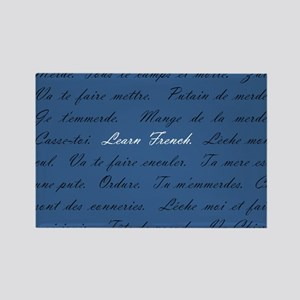 Learn French Rectangle Magnet
